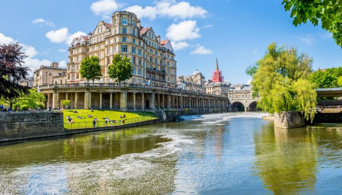 Bath from the River Avon