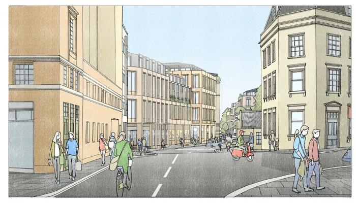 CGI image of Bath Quays North site