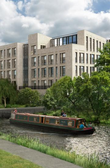 Image: artist impression of Bath Quays
