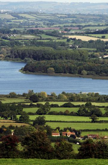 View of Chew Valley Lake and surroundings